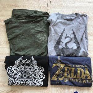 Bundle of Mens a United I Zelda Graphic T shirts